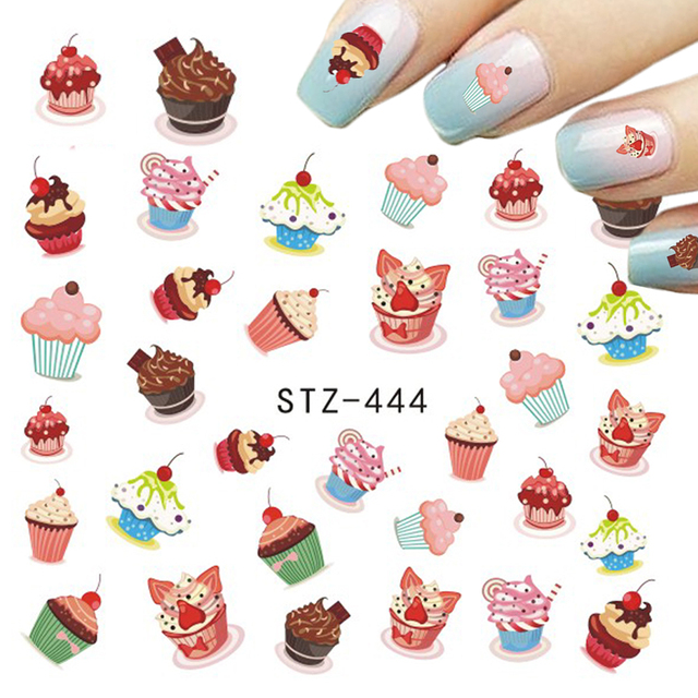 Chocolate/Fruit/Cheese/Cream Cake Nail Sticker Designs