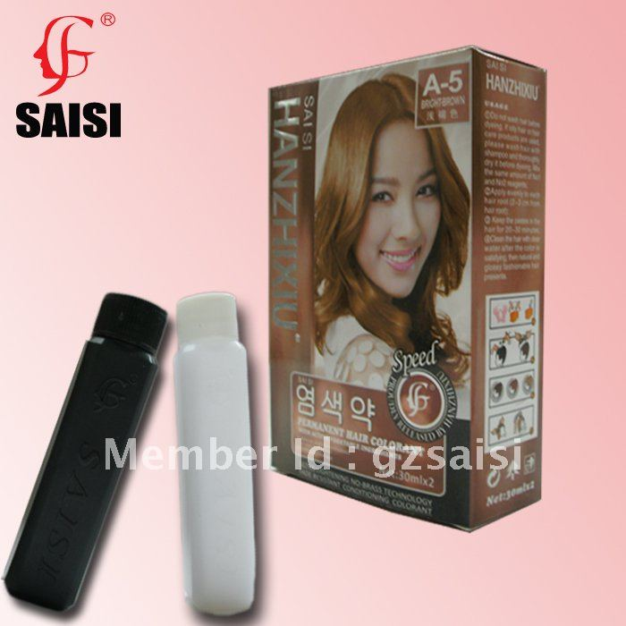 Bright Brown 30mlx2 Permanet Hair Coloring With Vegetable