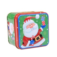 Christmas Cartoon Storage Candy Tin Box Candy Jar Christmas Snowman Box Tea Storage Organizer Box Christmas decorations for home