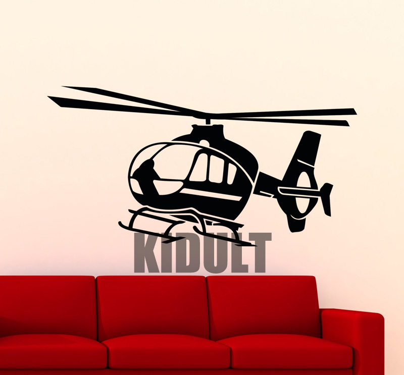 Creative Wall Sticker Small Helicopter Aviation Aircraft
