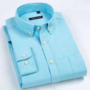 Image 3 - Grote Big Size 8XL 7XL 6 Xlmen Shirt Puur Katoen Oxford Luxe Formele Comfortabele Zachte Effen Gestreepte Man Shirt Merk vet Kleding