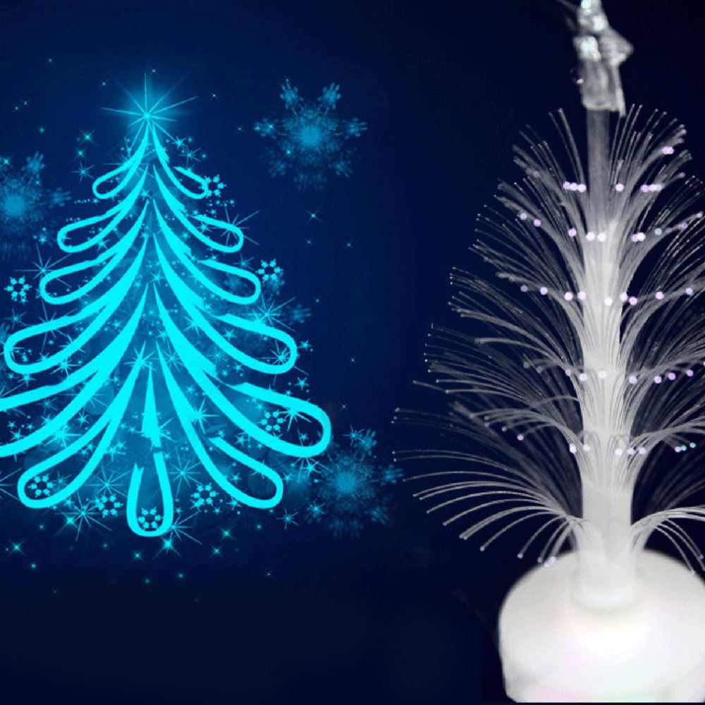 Christmas Tree Light Color Changing LED Light Lamp Room Decoration Ornament Small Night Light for Home Party Festival