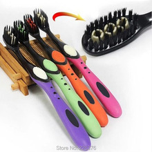 Free shipping  Charcoal Black Toothbrush The First Black Bamboo Charcoal Toothbrush Nursing