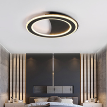 купить Round Minimalist Modern led Ceiling Lights For Living room Bedroom Indoor plafon led black/white led Ceiling Lamp light fixtures по цене 6408.91 рублей