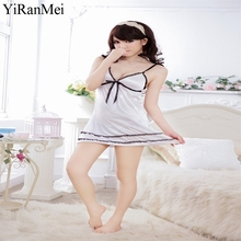 YiRanMei Tenue Sexy Femme Erotique New W Bodystocking Short Skirt And Cravat Babydolls Erotic Lingerie Sets For Women