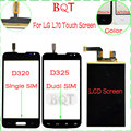 Garantia Testado!!! lcd para lg l70 d320 d325 d320 d325 tela lcd & touch screen com digitador de vidro de alta qualidade