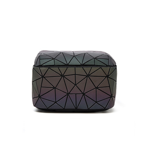 Image 5 - Sac à dos à bandoulière géométrique pour femmes, sacoche pour école pour adolescents, lumineux, sacoche Laser, nouvelle collection