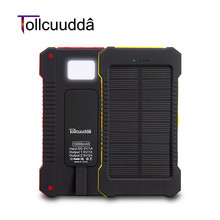 Tollcuudda Solar Power Bank 10000mah Cell Phone External Poverbank Charger For Iphone Xiaomi Mi Battery Portable Bateria Externa