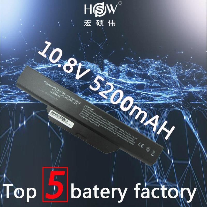 HSW 5200 mah batterie pour COMPAQ 510 511 610 615 pour Hp 550 Business Notebook 6720 s 6730 s 6735 s 6820 s 6830 s HSTNN-IB51 batteria