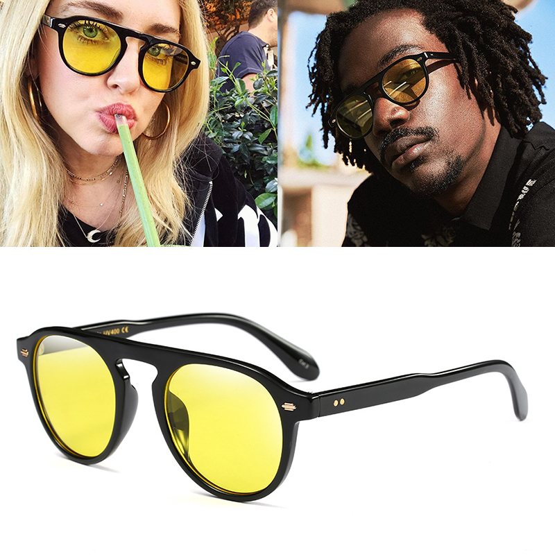 Jackjad 2020 nova moda do vintage estilo redondo matiz oceano lente óculos de sol das mulheres dos homens design da marca óculos de sol 92106