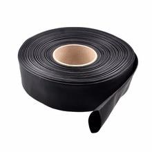 1m PVC Heat Shrink Tubing Black 30 40 46 50 60 70 86mm Wide For Lipo