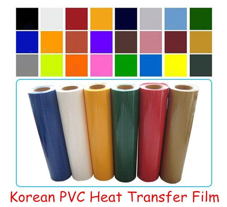 High Quality Korean PVC heat transfer film cutting film clothing coating plating film free shipping pvc film film pvc film transfer - title=