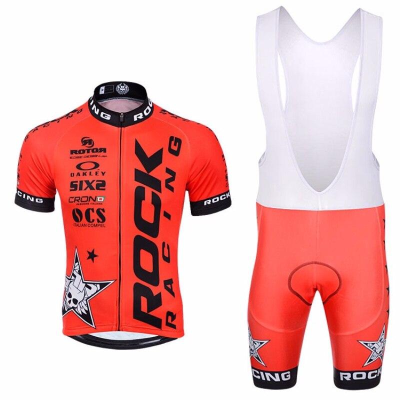 Prix pour Rock racing cyclisme vêtements courts ensemble Jersey maillot ciclismo vélo vélo vêtements vêtements sportwear Cortocircuitos POUR HOMMES