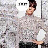 2016 new European wind light mature high end stereo wind leopard lustrine fabric clothing dress fabric rotten