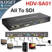 HDV SA01 ALL to SDI Scaler Converter VGA DVI AV HDMI signals to HD video 2 Port 3G SDI formats Splitter Repeater Extended 100m