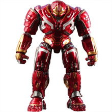 Disney Marvel 18cm Avengers 4  Anti-Hulk Armor Iron Man Boxed Luminescence Action Figure Car Ornaments Model Toys Doll