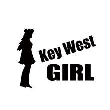 Cool Graphics Personality Key West Girl Car Sticker For Truck Window Bumper Auto Suv Door Vinyl Decal Jdm стоимость