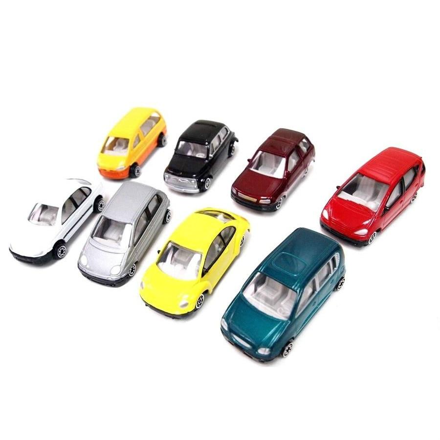 8pcs/set  scale metal cars 1:50  architecture model building ho train layout
