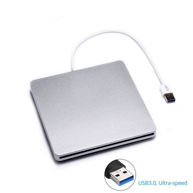 [Navio do Armazém Local] Slot de Carregamento de DVD externo RW Burner Drive Óptico USB 3.0 Super Slim Cd ROM Escritor para Laptop