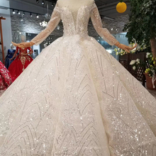 WONDMOND Ball Gown Floor Length Wedding Dress Long Sleeve