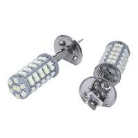 2X H1 68 SMD LED Car Lamp Fog Brake Light White 12V