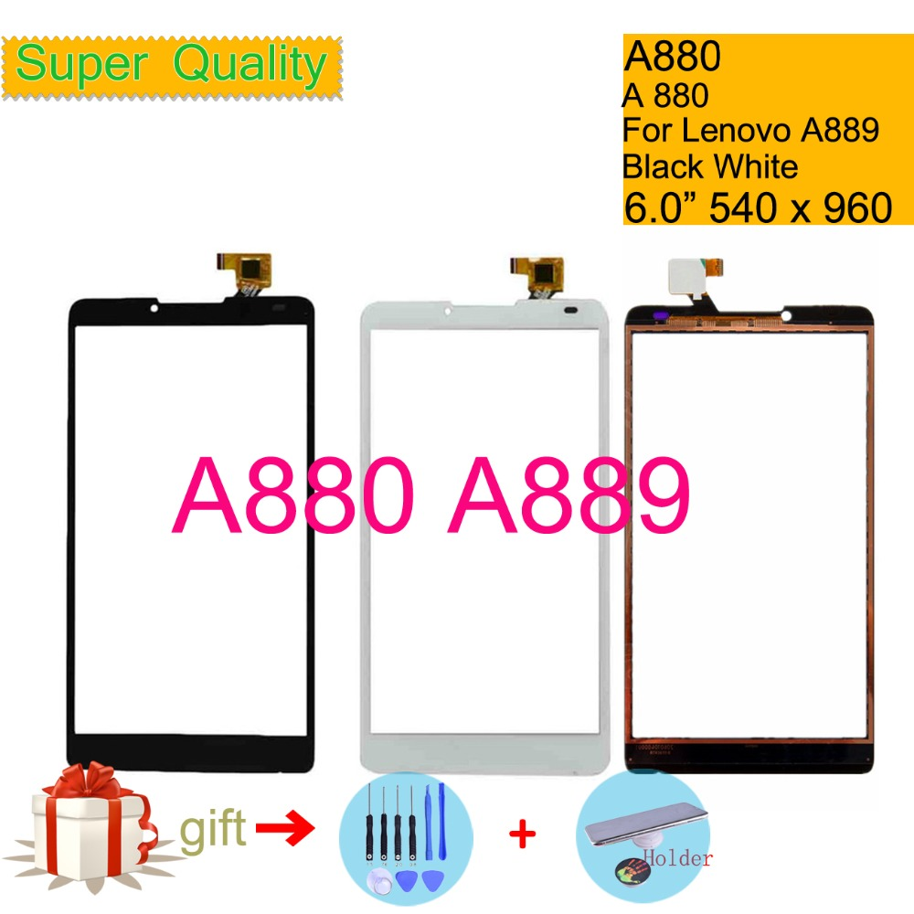 Original For Lenovo A880 A889 A 880 889 Touch Screen Digitizer Touch Panel Sensor Front Outer Glass Lens Touchscreen NO LCD 6.0