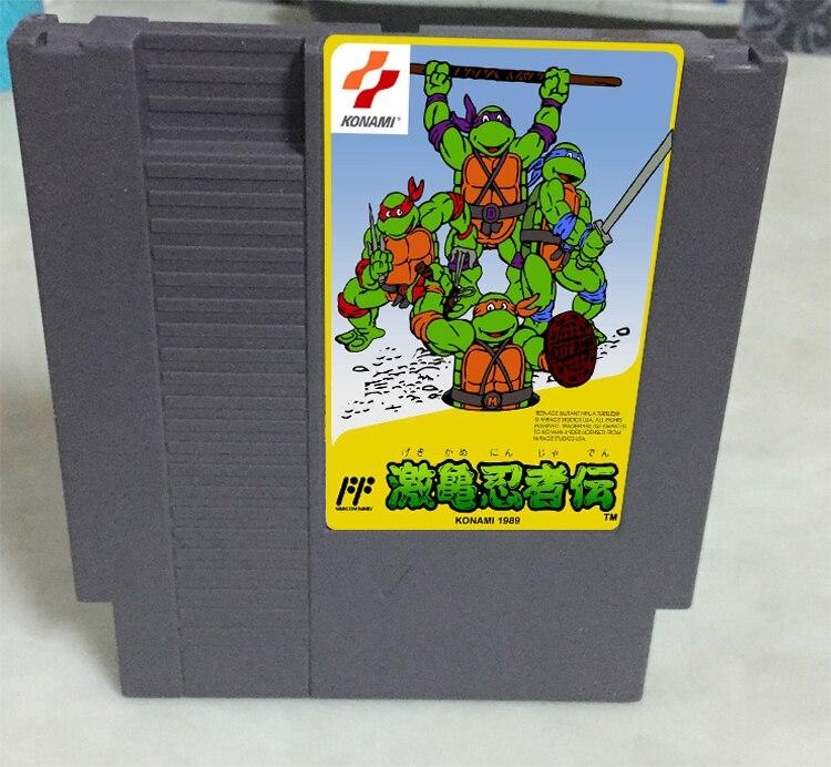 New arrival 72 pins 8 bit game cartridge free shipping — Teenage Mutant Ninja Turtles