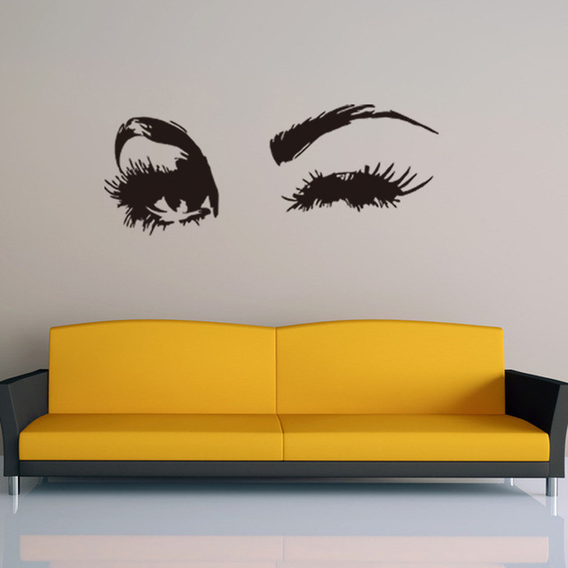 Aliexpresscom Buy Removable Waterproof Cm Beauty Eye Wall - Vinyl stickers designaliexpresscombuy eyes new design vinyl wall stickers eye wall