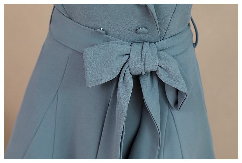 Spring and Autumn 2019 New Women's Dresses Korean Edition Long Sleeve Dresses Overlap Long Popular Temperament with Bottom 151