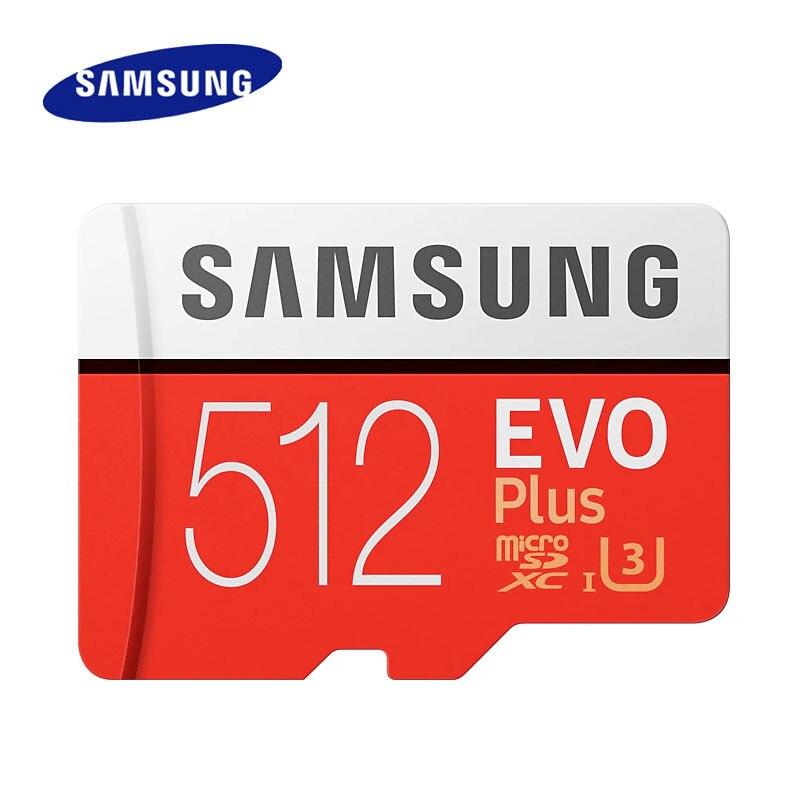 Carte mémoire flash Samsung C10 100 mo/s 512 go carte micro sd SDXC Class10 UHS-I U3 4 K 512 go carte TF