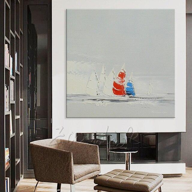 Handgeschilderde canvas schilderijen Goedkope grote moderne ...