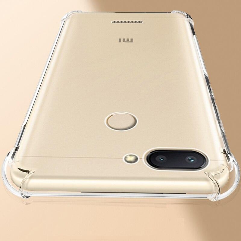 991a69b6d7f YUETUO de lujo a prueba de golpes a prueba suave tpu teléfono estuche de  cubierta coque... caso para xiaomi Redmi 6 6a 6 silicona accesorios de  silicona
