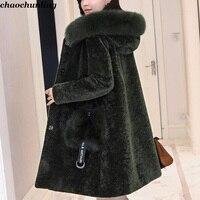 Англия Стиль Для женщин толстый Пальто для будущих мам 100% шерсть кожа 2018 Новый осень зима Леди Мода Супер теплая куртка с капюшоном