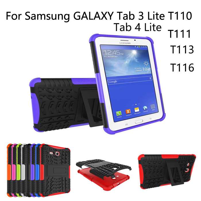 Hybrid Armor Shockproof Rugged Dual Layer Case For Samsung Galaxy Tab 3 Lite 7 0 T113 T110 T111 T116 Cover Screen Film Pen In Tablets E Books