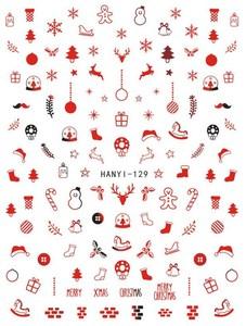Image 4 - Mới Nhất 3D Móng Tay Nghệ Thuật Miếng Dán Hanyi 247 248 Móng Giáng Sinh Bản Mẫu Đề Can Dụng Cụ DIY Trang Trí Móng Tay Dụng Cụ