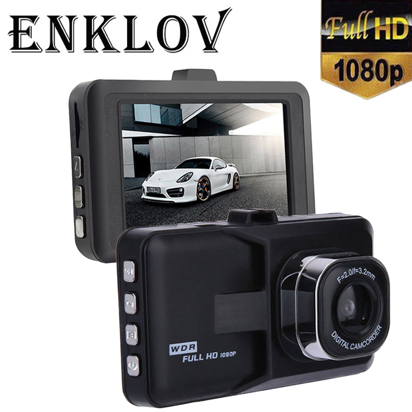 ENKLOV 120 Wide Angle Lens Dash Cam Full HD 1080P Car DVR Clear Night Vision Dash Cam Gravity Sensing Mini Car Camera Hidden Cam iroad dash cam v9