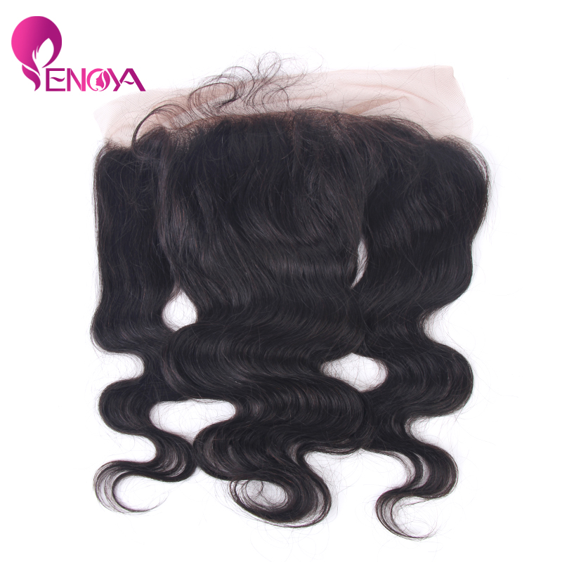 (US Stock) Peruvian Human Hair Lace Frontal Body Wave Human Hair Lace Frontals 13*4 Baby Hair