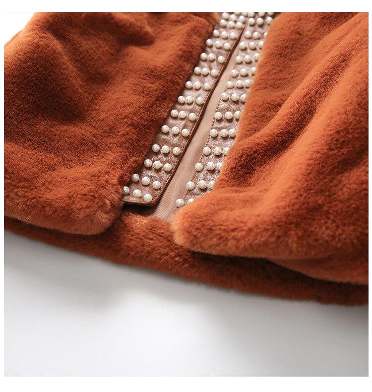 pelúcia falso pele algodão mais grosso manga