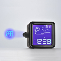 Radio Weather Forecast Alarm Clock Battery Digital Square Has Indoor And Outdoor Temperature Projection Snooze Alarm