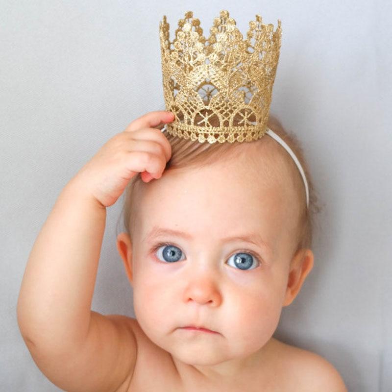 Повязка на голову с большой короной для новорожденных девочек младенцев малышей повязка на голову головной убор тиара