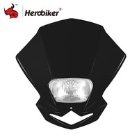 Motorcycle Headlight Led Fan Shape Moto Dirtbike Motocross Off Road Universal Headlights Lampada Moto Streetfighter Headlight