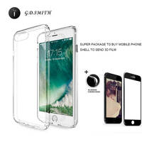 G D SMITH Clear TPU Cover Fundas For IPhone7 8 7Plus Luxury Phone Case For Apple