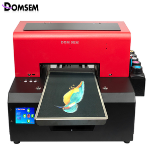 DOMSEM UV flatbed Printer with 3D Textured Raised Embossed for Glass Plastic Leather PVC Metal Phone case DTG cloth Printing