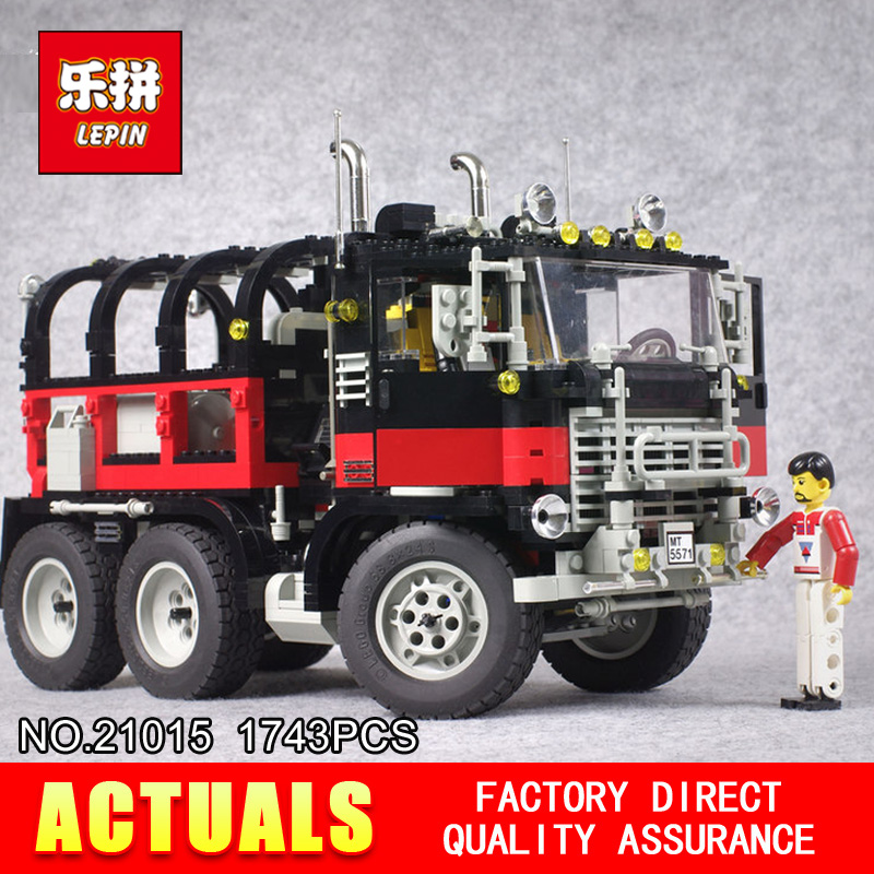 2017 Lepin 21015 New 1743Pcs The giant American container car Building Blcoks Bricks Toys 5571