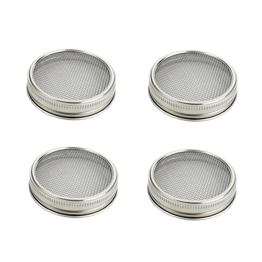 Sprouting Jar Lightweight Stainless Steel Wide Mouth Mason Jars Strainer Lid