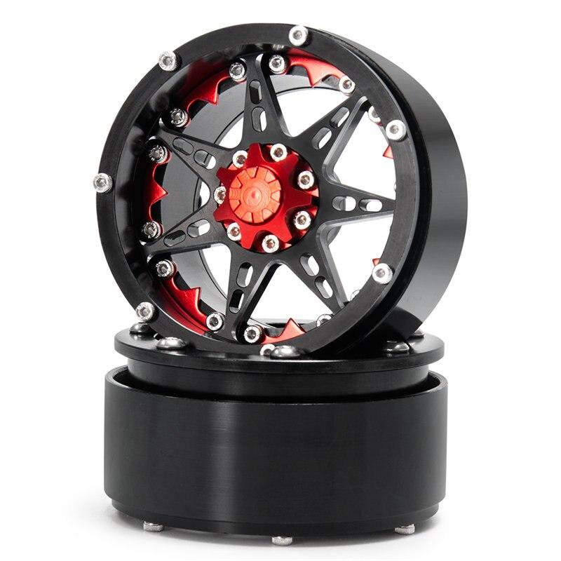 攀爬车-2.2英寸金属轮毂-24号-黑+红X1 (4)