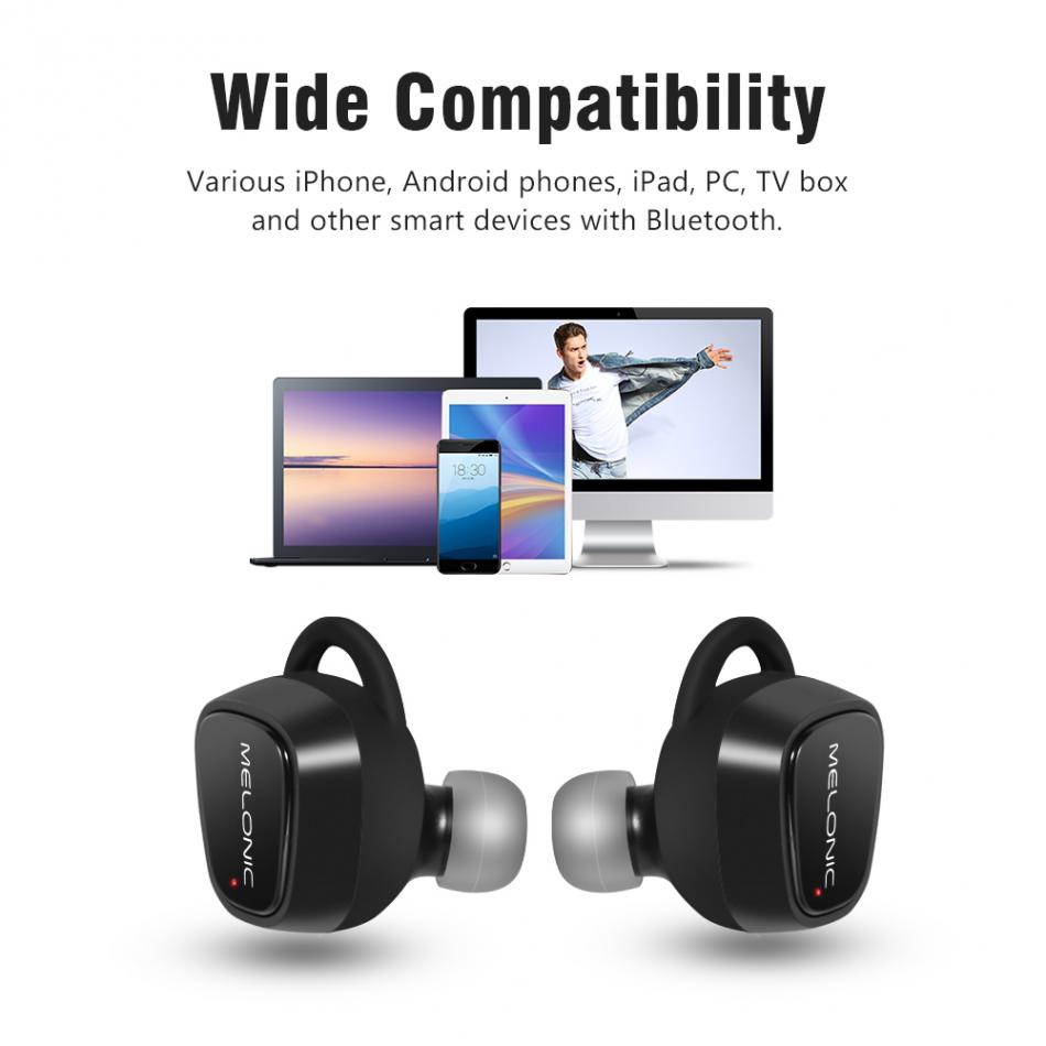 Wireless Bluetooth Earbuds 2 Hours Play Time True Bluetooth Earbuds with Charging Case