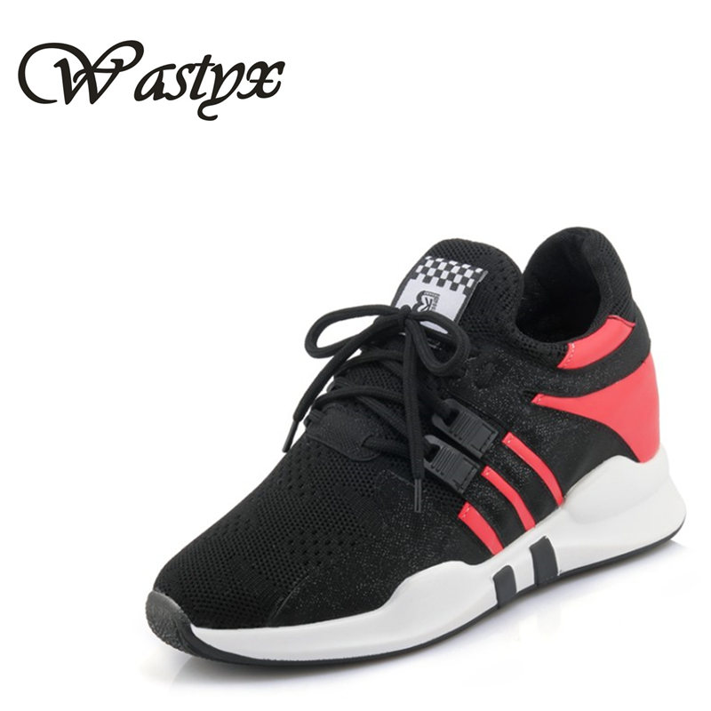 Wastyx Fashion Trainers Sneakers Women Casual Shoes air Mesh Grils Wedges Shoes Woman Tenis Feminino Zapatos Mujer plus size