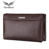 Luxury Brand Wallets For Men Genuine Leather Men Bag Cowhide Clutch Wallet Vintage Male Purse Big Capacity Phone Bag Wallet