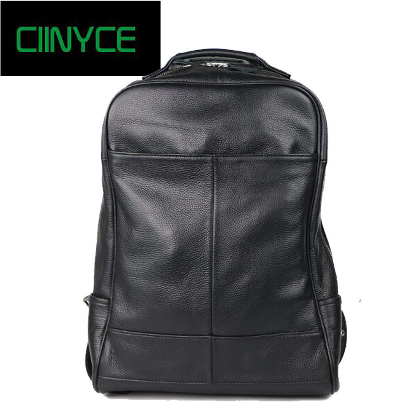 Brand Designer Male Genuine Leather Laptop Back pack Rucksack Top Quality Travel Backpack Men Notebook Computer Bag Black men s black soft cowhide back pack multifunctional genuine cow leather12 9 inches laptop rucksack male schooltravel shoulder bag